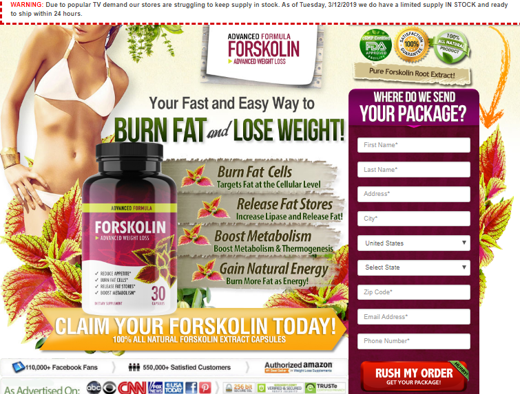 Healthy Feel Diet Forskolin - reviews